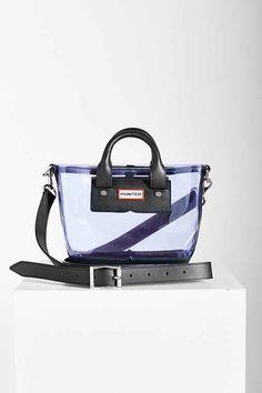 Hunter Original Clear Mini Tote Bag- Lavender One