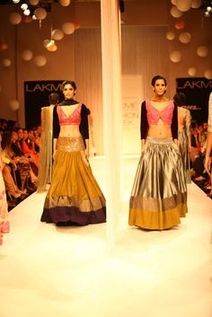 Embroidered side pockets on a Lehenga. Quirky? Could be 'fun' or 'funny'. Manish Malhotra   LakmeFashionWeek2013