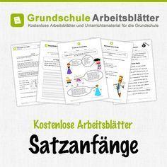 Kostenlose Arbeitsblätter und Unterrichtsmaterial für den Deutsch-Unterricht zum Thema Satzanfänge in der Grundschu