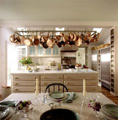 Cream + brass + copper | Martha Stewart's Turkey Hill Kitchen