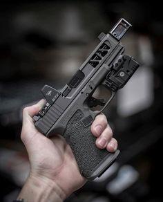 Daily Tactical Custom Glock, Custom Guns, Weapons Guns, Guns And Ammo, Armas Airsoft, Glock Mods, Tactical Pistol, Tactical Gear, Airsoft Gear