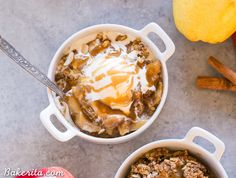 This Pear Apple Crisp combines two of the best fall fruits, and it's flavored with vanilla, cinnamon & ginger. This crisp is gluten-free, Paleo, and vegan.