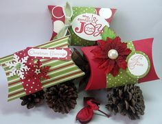 stamping up north: Chrstmas Pillow Boxes
