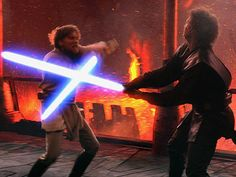 Day 15 A Scene That Makes You Sad/Angry: When Anakin loses his shit and takes it out on Obi Wan...makes me livid!