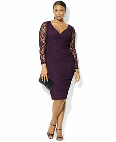 Purple plus size dress Stylish party dress dresses