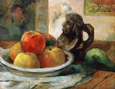 Titolo dell'immagine : Paul Gauguin - Still life with apples, a pear and a jug