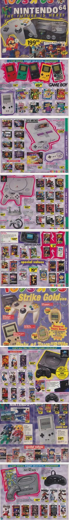 1996 Toys 'R' Us Game Ads........................................Please save this pin. ............................................................. Click on the following link!.. http://www.ebay.com/usr/prestige_online