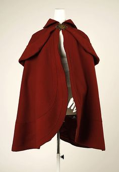 Skating Cape 1898, French, Made of wool
