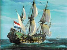Anglo Dutch Wars, Old Sailing Ships, Sailing Boat, Wooden Ship, Nautical Art, Tug Boats, Navy Ships, Seascape Paintings, Ship Art