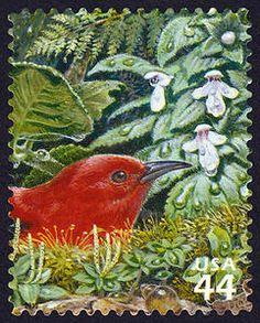 US Stamp 2010 - 44c Hawaiian Rain Forest Apapane Hawaiian