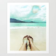 Sittin on the beach Art Print