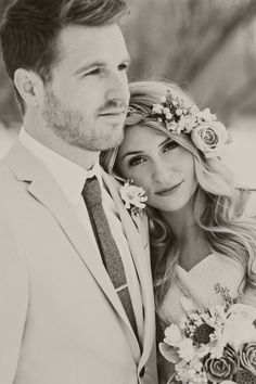 Winter bridal photography. Winter wedding colors. Winter flower bouquet. Stephanie Sunderland Photography. Utah wedding photographer. Vintage inspired wedding. Tan suit for groom. Pretty flower crown.