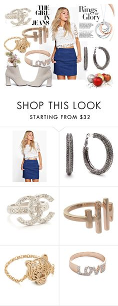 """""""Modern  Rings"""" by hillarymaguire ❤ liked on Polyvore featuring Boohoo, Maria Black, Kenzo, Kismet by Milka, Stuart Weitzman, Tiffany & Co. and modern"""