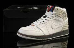 sports shoes b4b24 e9432 Nike Air Jordan I 1 Retro Mens Shoes High Fur White