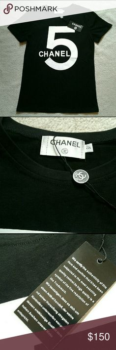 Chanel Shirt New with Tags  Bought from the boutique on Madison Ave Size Small   SHIPS SAME DAY BEFORE 4PM OR NEXT DAY CHANEL Tops Tees - Short Sleeve
