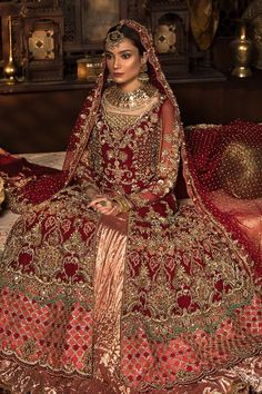 Latest Pakistani designer bridal dresses Maria B Brides Collection includes beautiful patterns, designs & styles of Asian & western wedding dresses. Asian Bridal Dresses, Asian Wedding Dress, Pakistani Wedding Outfits, Indian Bridal Outfits, Wedding Dresses For Girls, Pakistani Wedding Dresses, Bridal Gowns, Designer Bridal Lehenga, Designer Anarkali