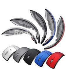 New USB folding Wireless Arc Mouse Optical PC Laptop - US$4.90