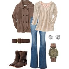 Comfy and Cozy khaki instead of jeans for work.