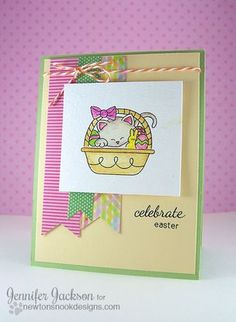 Baskets of Wishes - 4x6 photopolymer Spring Baskets set by Newton's Nook Designs.