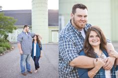 Adorable tall guy short girl barn engagement session - Kate Saler Photography www.katesalerphotography.com