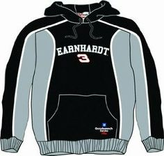 Dale Earnhardt Hooded Sweatshirt by RacingGifts. $56.50. These long sleeve officially licensed sweatshirts are made from a blended fabric for durability and comfort, and feature high quality graphics. Colorful and attractive, unique look, they re fashionable for just about any occasion. Show your racing team pride with one of our most popular long sleeve designs!