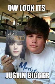 Funny Justin Bieber (15 Pics) This is mean i have no hate against Justin Bieer but i found this really funny