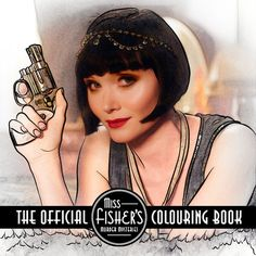 Put your creativity and imagination to the test with this official colouring book featuring over fifty illustrations from the hit television series, Miss Fisher's Murder Mysteries. #MissFisher #ColoringBook