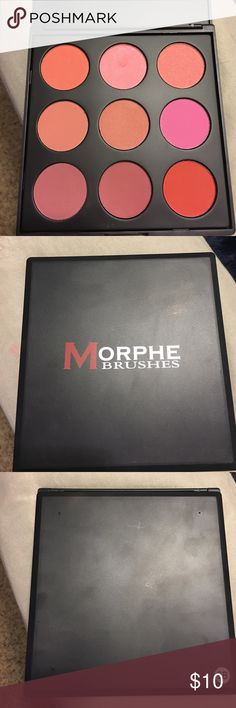 Morphe Brushes blush palette 9B Morphe Brushes 9 pan blush palette 9B. Only swatched a couple of the colors. Super creamy and pigmented!! Check out my other items to bundle & save 💝 Morphe Brushes Makeup Blush