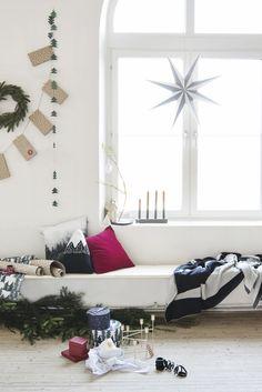 Scandinavian christmas = light, fir trees and naked wood. Christmas 2016 by Lagerhaus