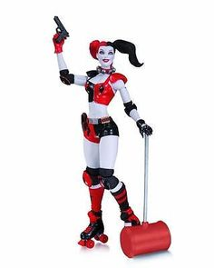 DC Comics New 52 Roller Derby Harley Quinn Action Figure