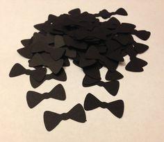 Bow Tie Confetti  100x Black Bowtie Die Cuts / by PurpleSakana, $2.50