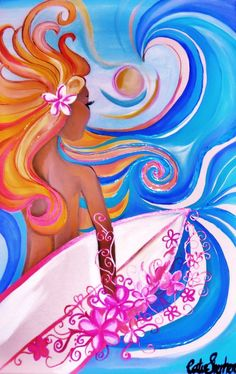 Love this wahine surf art
