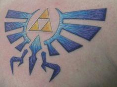 This is my triforce tattoo. #zelda #triforce #tattoo
