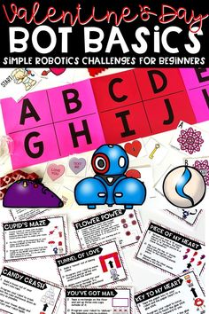 10 simple Valentine's Day Bot Basics Robotics challenges for beginners | Coding | Works with any driving robot | Elementary Robotics | 1st-5th Grade