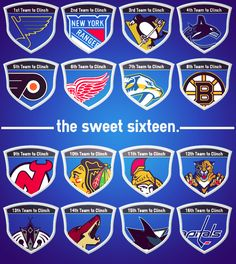This year's NHL playoff teams-the sweet sixteen