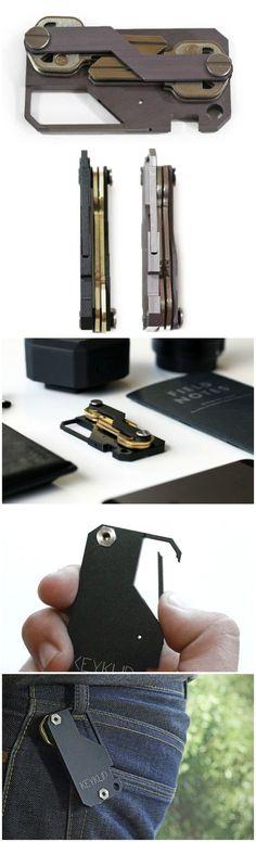 KeyKlip Onyx Black • EDC Everyday Carry Carabiner Key Holder • Slim Key Organizer • Key Holder • Aerograde Anodized Aluminum • Great for Lanyards, Key Fobs, Key Ring @aegisgears