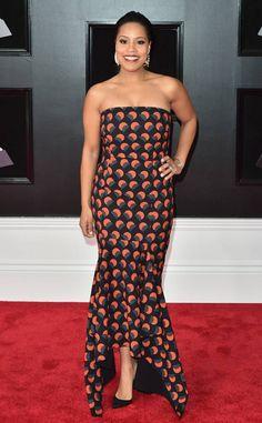 Sheinelle Jones from 2018 Grammys Red Carpet Fashion | E! News