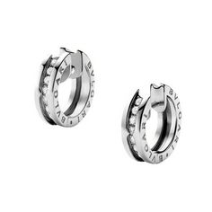 87960d3ba220 2012 Christmas present from Bubble - Bulgari Small B.Zero1 18k White Gold    Diamond. Pendientes De Aro ...