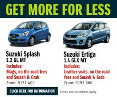 Buy a brand new Suzuki Splash from Only Terms and conditions apply. Terms and conditions apply. Suzuki News, South Africa, How To Apply, Brand New