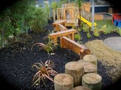 Playscape, natural playgrounds maximising the available space and creating challenges for Little Explorers