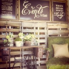Events by I Candy's Pallet Wall!