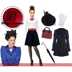 Mary Poppins DIy Costume by contrary-to-ordinary on Polyvore