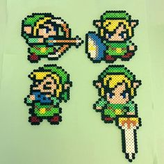 LoZ Link perler beads by  the_perlair