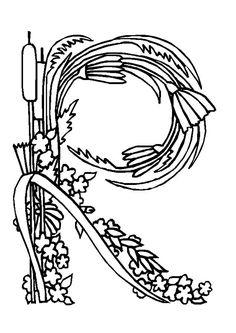Très belle illustration de la lettre R, coloriage