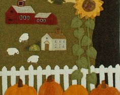 Wool applique BOM patterns &/or KITS for by HorseAndBuggyCountry