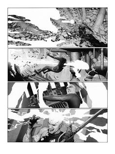 Metabaron by Travis Charest Comic Book Layout, Comic Book Style, Comic Book Pages, Comic Book Artists, Comic Artist, Comic Books Art, Example Of Comics, Georges Wolinski, Travis Charest