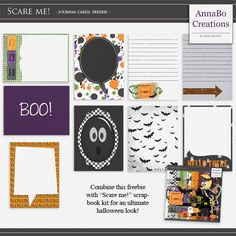 Free Scare me! Journal Cards | Annabocreations