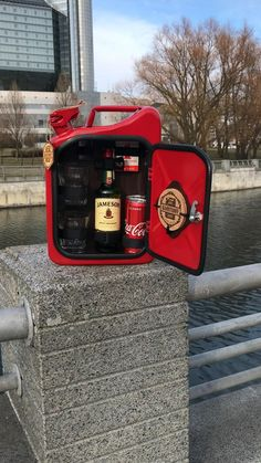 Jerry Can Mini Bar, Garage Game Rooms, Home Bar Accessories, Liquor Bar, Car Part Furniture, Scooter Bike, Man Cave Home Bar, Firefighter Gifts, Drinks Cabinet