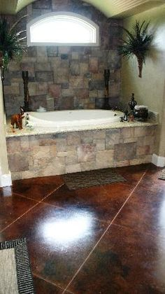 stained concrete floors- mexico home Stained Concrete, Concrete Floors, Concrete Staining, Plywood Floors, Concrete Lamp, Concrete Countertops, Laminate Flooring, The Ranch, Beautiful Bathrooms