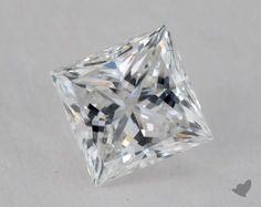 0.76 Carat E-SI1 Very Good Cut Princess Diamond